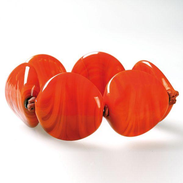 bracciale vetro murano venezia cecilia arancio