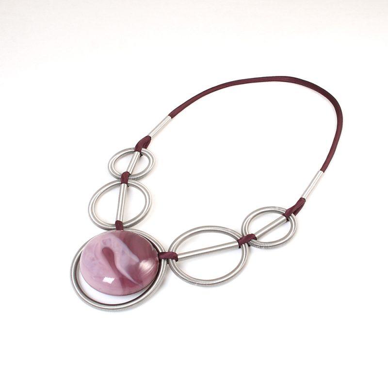 collana vetro murano venezia clotilde viola